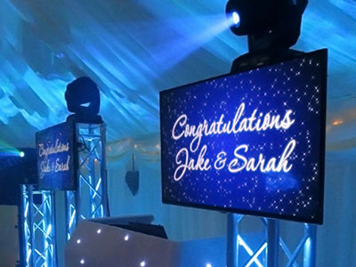 Why add video screens to your mobile disco?   Text in Motion