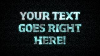 Glitchy Text