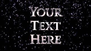 Glitter Awards Text