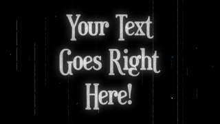 Vintage Cinema Text