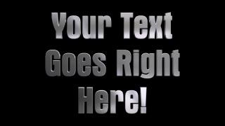 3D Metal Rotating Text Aurora