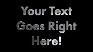 3D Metal Rotating Text Futura