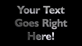 3D Metal Rotating Text Humanist