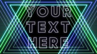 EDM Neon Text