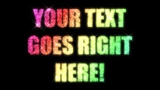 Sparkling LED Text