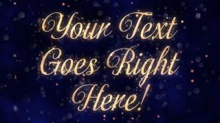 Sparkling Script Text