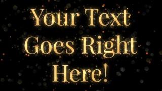 Sparkling Serif Text