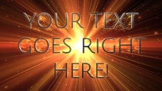 Warp Speed Text