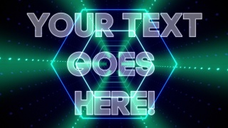 Hexagon Tunnel Text