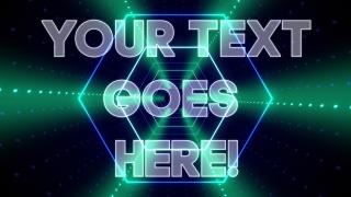 Hexagon Tunnel Text