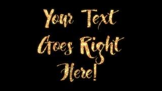 Handwritten Glitter Text