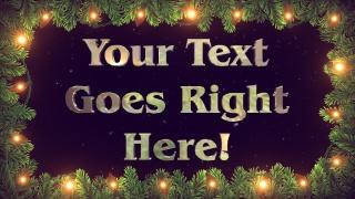 Christmas Light Text
