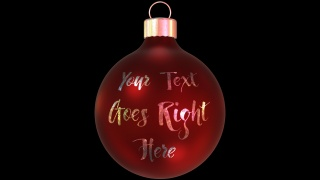 Bauble Text Gobo