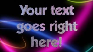 3D Glitter Party Text