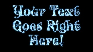 Festive Glitter Text